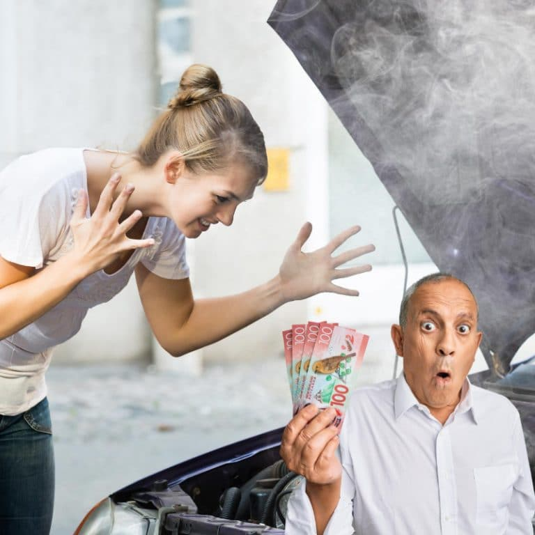 broken car valuation